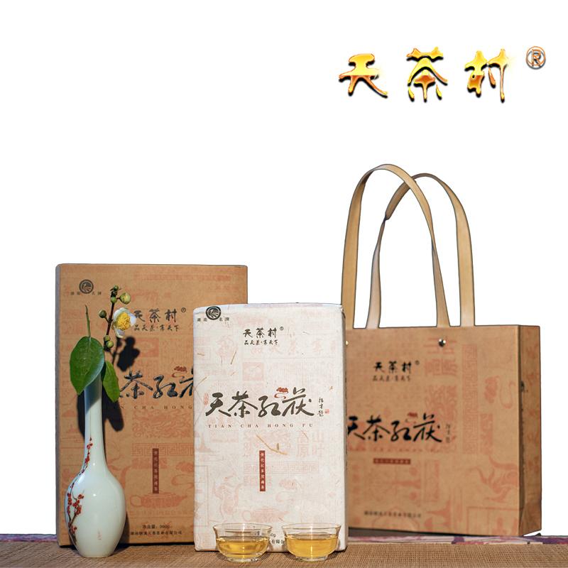 天茶红茯(红茶茯砖,一级 2017年,980g/块 礼盒装)