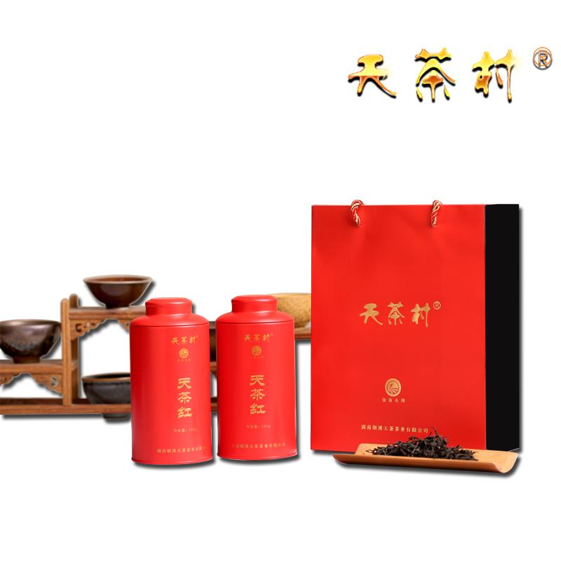 天茶红铁罐装(三级 100g/罐*2 礼盒装罐装散装 销售冠军款)