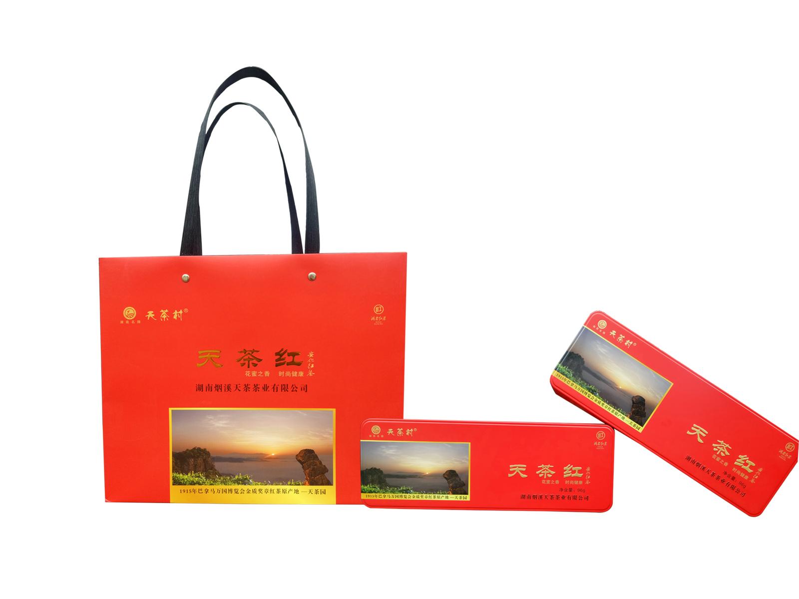 天茶红普装(二级,2018年,礼盒装,96g/条(每条4g*24包)
